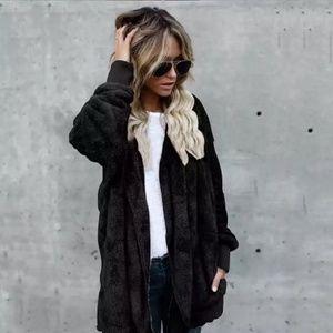 Jackets & Blazers - Oversized soft, cozy, hooded jacket